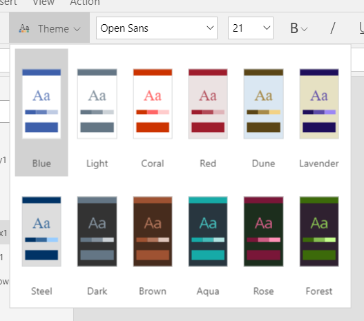 2018-08-05_PowerApps_Studio_Ribbon_Home_Theme