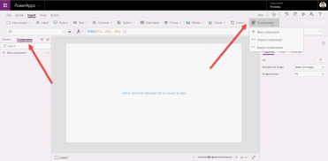 New PowerApps preview feature – Components – Power Sweet!